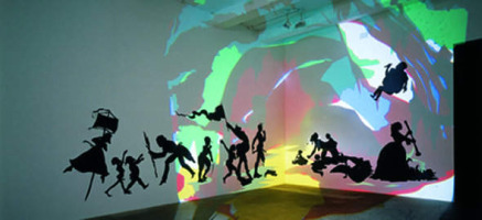 Kara Walker, Cut paper and projection on wall
