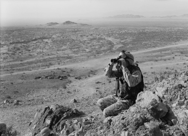 An-My Lê, 29 Palms—Colonel Greenwood, 2004, gelatin silver print, 26 x 37 1/2 inches, Museum of Contemporary Photography Chicago, gift of Lannan Foundation