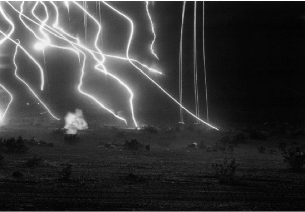 An-My Lê, 29 Palms—Night Operations 7, 2004, gelatin silver print, 26 x 37 ½  inches, Museum of Contemporary Photography Chicago, gift of Lannan Foundation