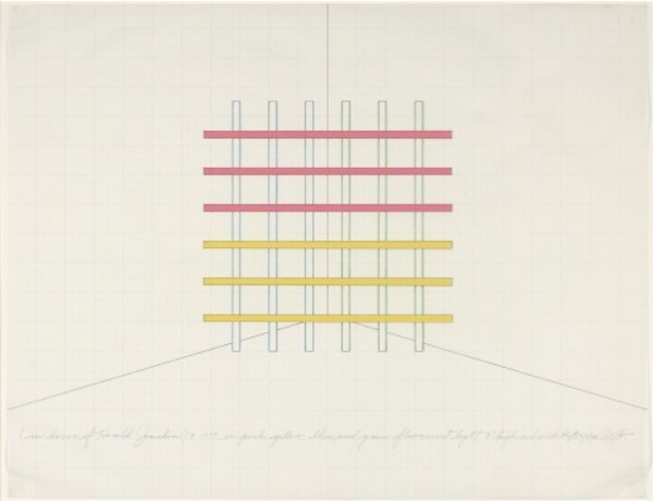 dan flavin drawing exhibition