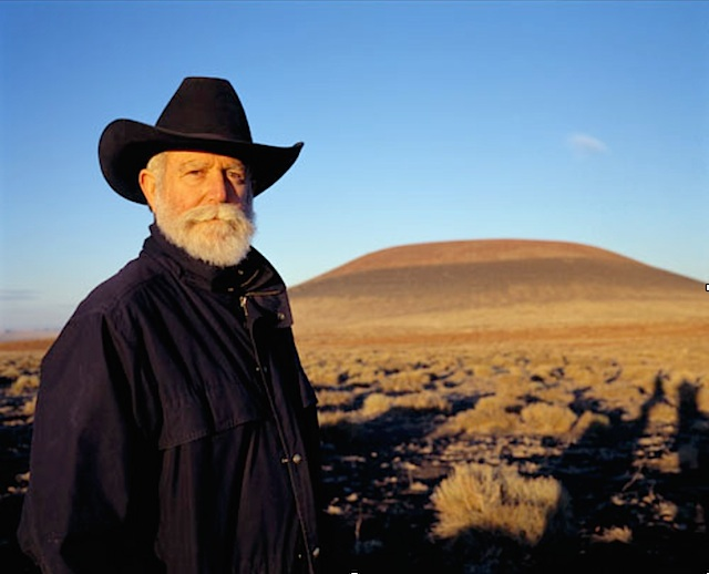 james turrell at roden crater in arizona