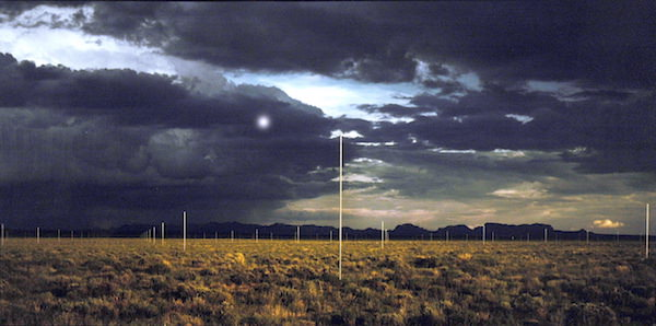Field before the Storm, Walter de Maria's Lightning Field, 1977