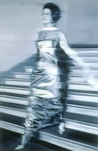 gerhard richter's Frau, die Treppe herabgehend (Woman Descending the Staircase), 1965