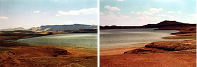 Victoria Sambunaris, Untitled, 2005 (Uranium Tailings, Mexican Hat, UT), C-Print, 30 x 42.5  inches, ed. 1/5, Collection Lannan Foundation.