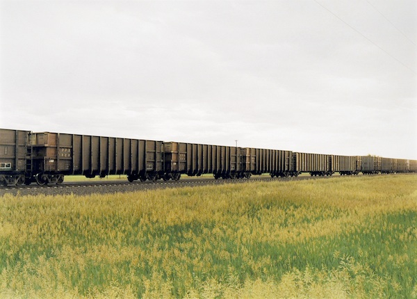 Untitled, 2001 (Train with tall grass, North Platte, NE)