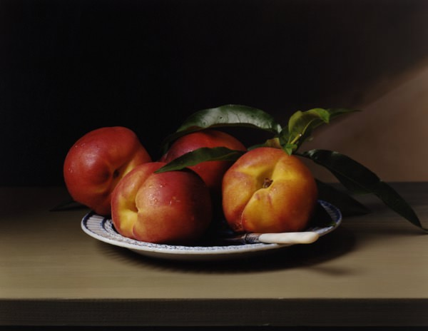 Image: Sharon Core, Early American – Peaches, 2009, chromogenic print, 13 ¼  x 17 ½  inches, Collection Lannan Foundation