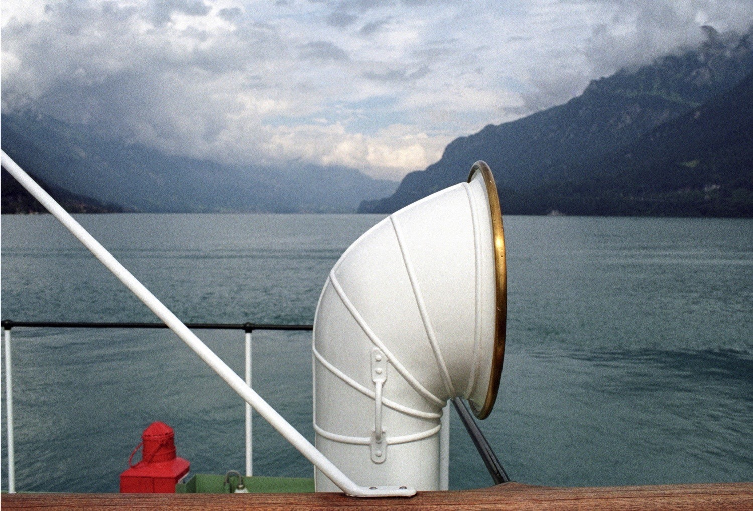 Teju Cole, Brienzersee, June 2014, 2014/2018, archival pigment print, printed 2017, 19 1/8 x 32 ½ inches, edition 4 of 5, Collection Lannan Foundation. I opened my eyes. What lay before me looked like the sound of the alphorn at the beginning of the final movement of Brahms's First Symphony. This was the sound, this was the sound I saw.