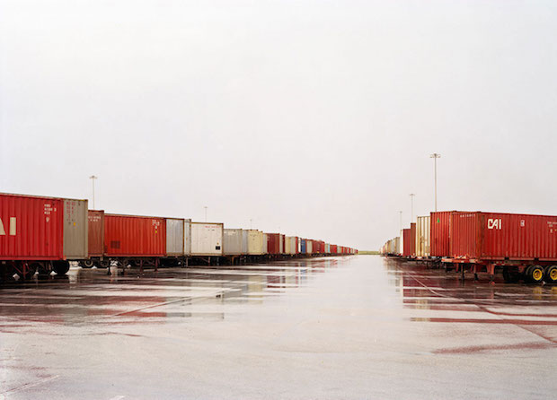 Untitled (Red Containers) by Victoria Sambinaris