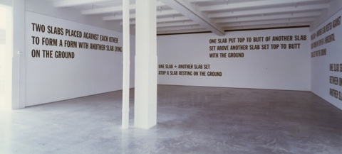5 Figures Structure 1987 Lawrence Weiner
