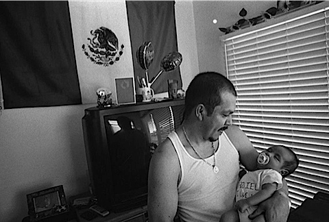 Daniel Lemus From Colima Mexico Newborn Son Julian Cardona