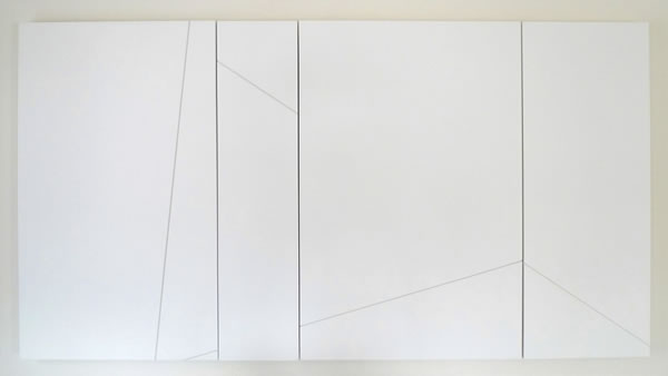 image of fred sandback untitled sculptural -study white wall