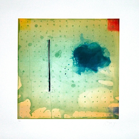 Mixed Marks Grid Ink Blot 2004 Pat Steir
