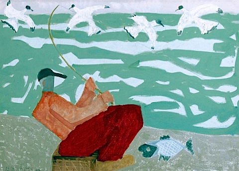 Red Fisherman 1950 Milton Avery
