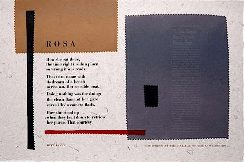 Rosa Rita Dove Word Art Poetry Broadside 2005