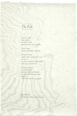 The Fish By Jane Hirshfield Press Palace Governors