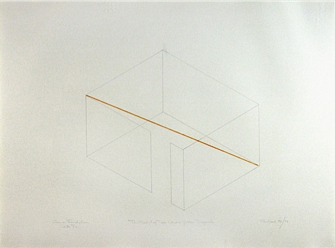 The Second Of Four Chrome Yellow Diagonals Fred Sandback