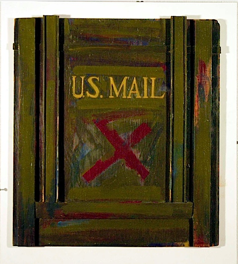 X Sign Meets The Us Mail 1962 John Baldessari