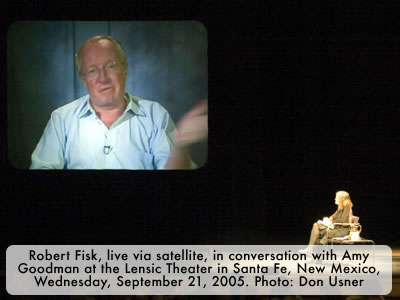 Robert Fisk in converstaion with Amy Goodman