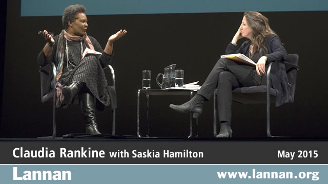 Claudia Rankine with Saskia Hamilton