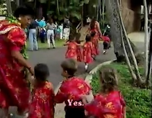 children preparing to sing and dance in honolulu
