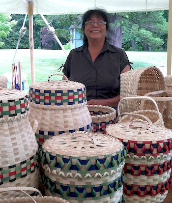 baskets from the Maine Indian Basketmakers Alliance