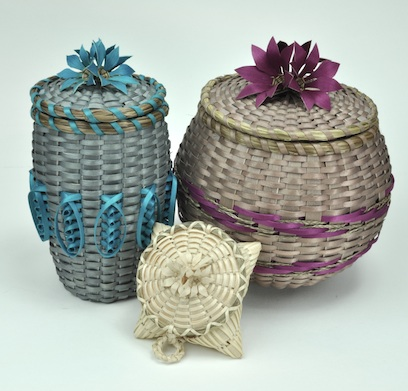Baskets by George Neptune, maine indian basketmakers alliance