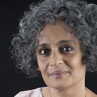 photo of Arundhati Roy with Avi Lewis