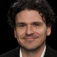 photo of Dave Eggers and Vendela Vida with Michael Silverblatt
