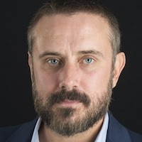 photo of Jeremy Scahill with Tom Engelhardt