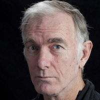 photo of John Sayles with Francisco Goldman