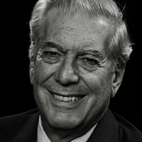 photo of Mario Vargas Llosa with Efraín Kristal