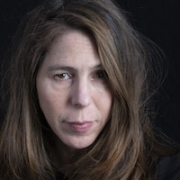 photo of Rachel Kushner with Michael Silverblatt