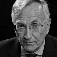 photo of Seymour Hersh with Amy Goodman