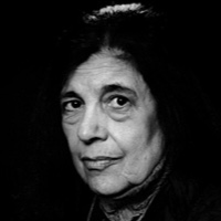 photo of Susan Sontag with Michael Silverblatt